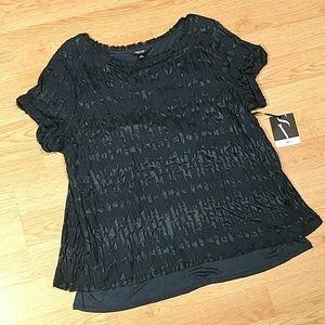Simply Vera Black Split Wrap Top, NWT, sz XLrg